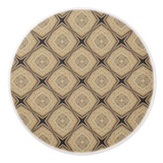 Tan Pattern for Neutral decor Ceramic Knob