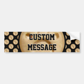 Tan Paw Print Dot Bumper Sticker
