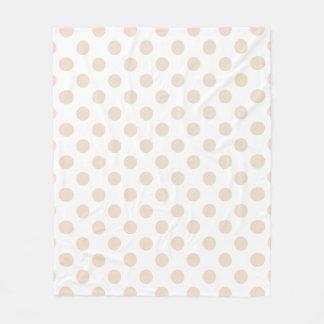 Tan polka dots fleece blanket