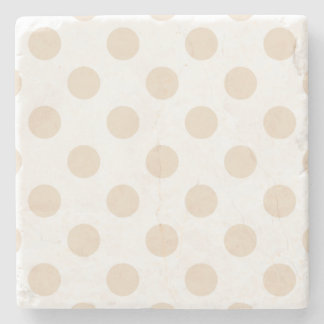 Tan polka dots stone coaster