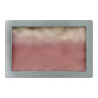 tan red rock lines rectangular belt buckle