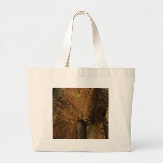 tan rock texture large tote bag