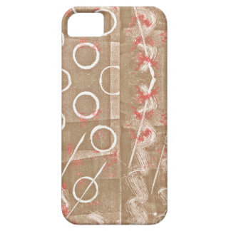 Tan Rust White Abstract Barely There iPhone 5 Case