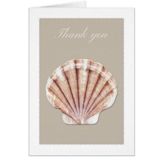 Tan sea shell thank you card