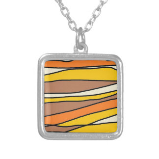 tan streaks.jpg square pendant necklace