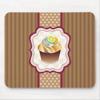 Tan Stripes Lime Cupcake Mouse Pad