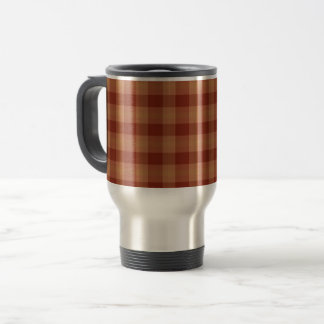Tan Tartan  Travel/Commuter Mug