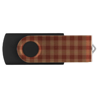 Tan Tartan USB Flash Drive