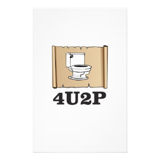 tan toilet scroll personalised stationery