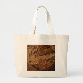 tan vertical sandstone lines large tote bag