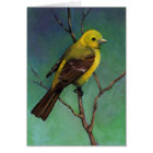 Tanager (Bird) in Oil Pastel, Realism Art Card
