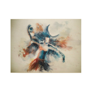 Tandava - Adiyogi Shiva's cosmic dance Wood Poster