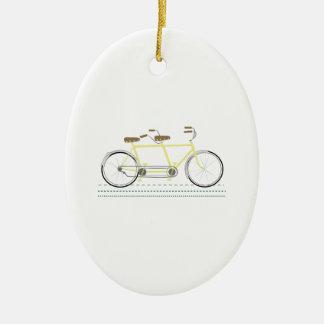Tandem Bicycle Ceramic Ornament