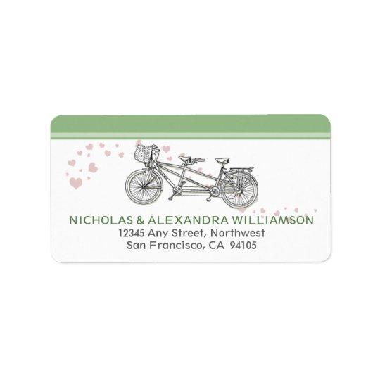 Tandem Bicycle Return Address Labels (mint)