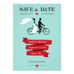 Tandem Bicycle Save the Date Cards Custom Invitation