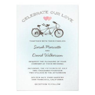 Tandem Bicycle Wedding Invitation
