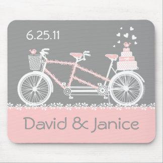 Tandem Bicycle Wedding Keepsake Mousepad