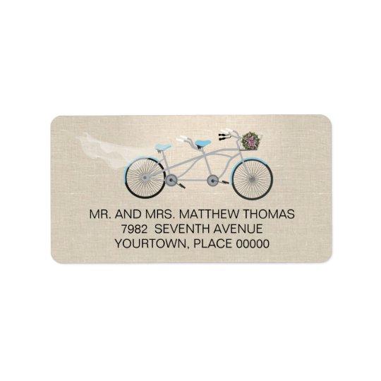 Tandem Bicycle Wedding Return Address Address Label
