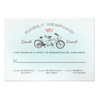 Tandem Bicycle Wedding RSVP Card