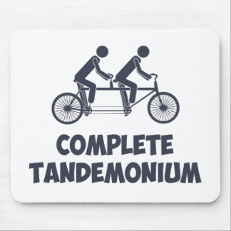 Tandem Bike Complete Tandemonium Mousepad