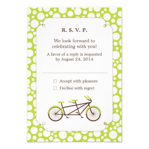 Tandem Bike (Green Dots) RSVP Invite
