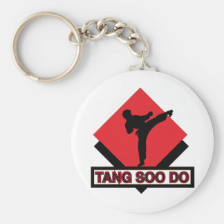 Tang Soo Do red diamond Key Ring