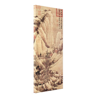 Tang Yin - Brightening after snow in a mountain Canvas Prints