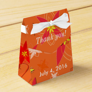 Tangerine Burst Wedding Favor Wedding Favour Boxes