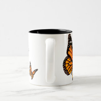 Tangerine Butterfly Coffee Mug