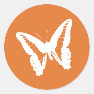 Tangerine Butterfly Envelope Sticker Seal