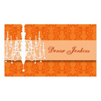 Tangerine Chandelier Biz Card Pack Of Standard Business Cards