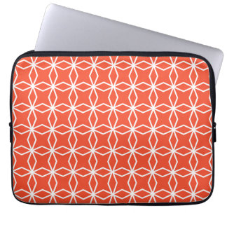 Tangerine Orange Geometric Pattern Laptop Sleeve