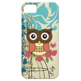 Tangerine Owl Birdcage Tree iPhone 5 Cover