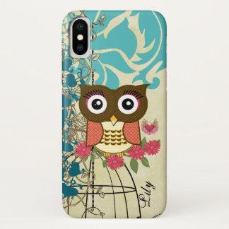 Tangerine Owl Birdcage Tree iPhone X Case