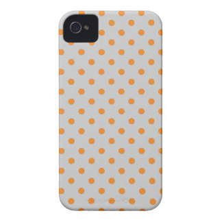 Tangerine Polka Dots on Any Background iPhone 4 Case-Mate Cases