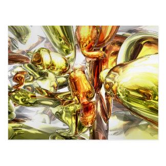 Tangerine Rapture Abstract Postcard