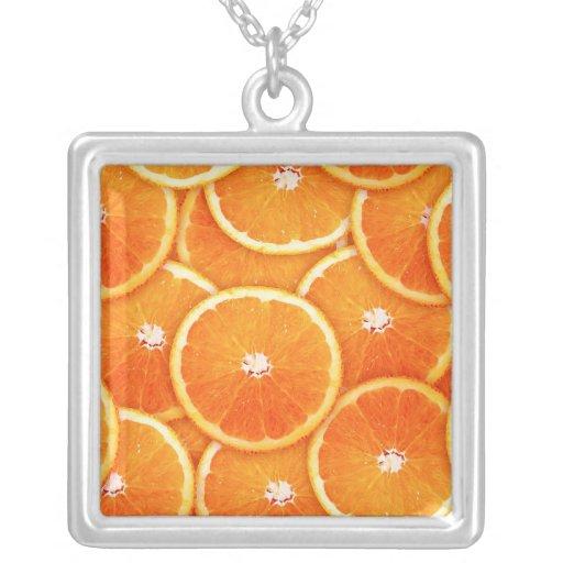 Tangerine slices necklaces