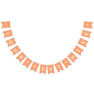 Tangerine Solid Color Customize It Bunting
