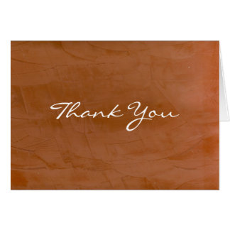 Tangerine Thank You Card
