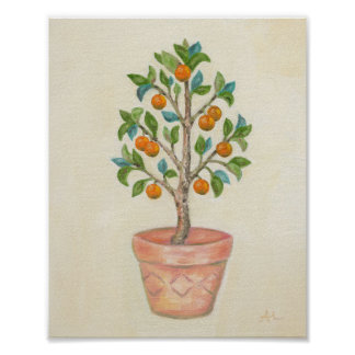 Tangerine Tree art print