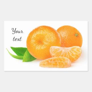 Tangerines Rectangular Sticker