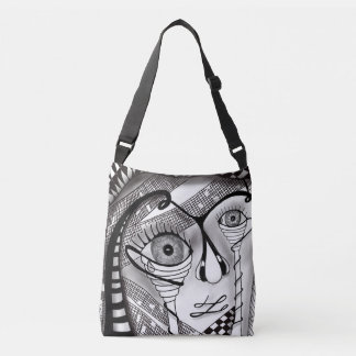 Tangle art self portrait totebag crossbody bag