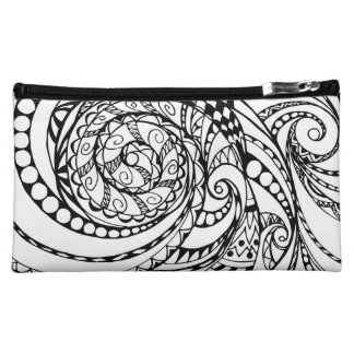 tangle geometric zen pattern1 cosmetic bag