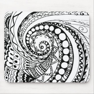 tangle geometric zen pattern2 mouse pad