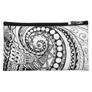 tangle geometric zen pattern makeup bag