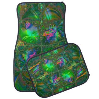 Tangled Destiny Psychedelic Fractal Floor Mat