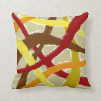 Tangled Fuzzy Autumn Themed Throw Pillow