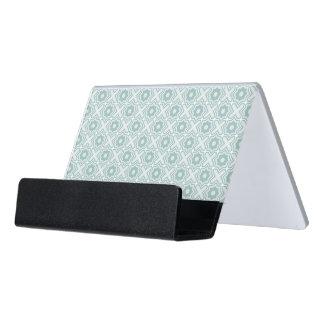 Tangled Lattice Pattern Desk Business Card Holder