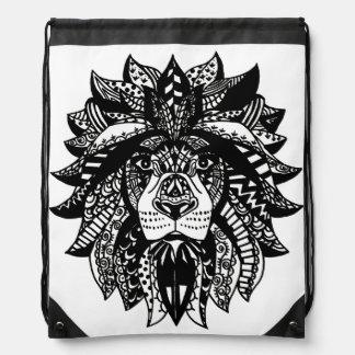 Tangled Lion Drawstring Backpack