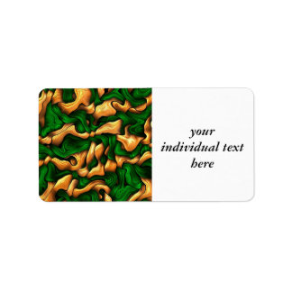 tangled silk green address label